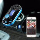 Neu Bluetooth Auto FM Transmitter Aux Audio MP3 Player Dual USB Kfz-Ladegerät DE