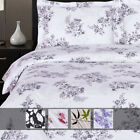 Luxury Printed Sheets 100% Pure Sateen Combed Cotton Deep Pocket Wrinkle Free image