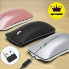 Wireless Bluetooth Mouse 2.4GHz Rechargeable Optical Mice For Macbook Laptop PC