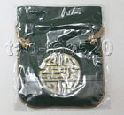 """4.5X5.5""""  dark green colors flax jewelry pouchs Bags Gift packing n1A32"""