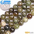 Natural Stone Green Tsavorite Round Beads For Jewelry Making Free Shipping 15""