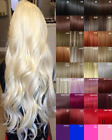 Clip in Hair Extension real Human Feel Black Dark Brown White Blonde Highlight