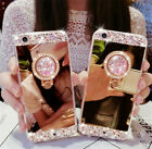 Bling Crystal Glitter Diamond Mirror Case Covers For iPhone Xs Max XR 8 7 6 Plus