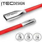 ITEC 1-3M Fast High Tensile Micro USB Type C Lightning Charging Data Sync Cable