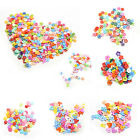 100 Pcs/lot Plastic Buttons Sewing DIY Craft decals for Children 6 Shapes LA