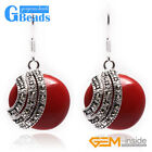Fashion 28mm Coin Beads Tibetan Silver Dangle Earrings 1 Pair for Gift Free Box