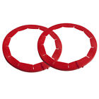 Adjustable Pie Crust Shield BPA Free Silicone Red Fits 8.5 to 11.5 Rimmed Dish Y