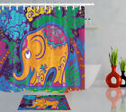 72in Long Bathroom Waterproof Fabric Shower Curtain Liner Jungle India Elephant