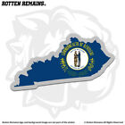 Kentucky State Shaped Flag Decal KY Map Gloss Vinyl Sticker HGV