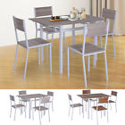 5 PC Extending Drop Leaf Counter Height Dining Set Table  4 Chairs Kitchen