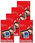5 Pack SanDisk 8GB 16GB 32GB SDHC SD SDSDB Class 4 Flash Camera Card Lot