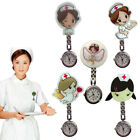 New Women Quartz Cute Gifts Nurse Doctor Watch Pin Cartoon Girl Pattern Hot