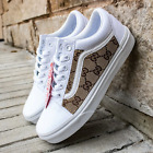 Vans-White-Old-Skool-x-Authentic-Gucci-Fabric-Custom-Handmade-Shoes