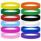 12x 60x 120x Lot Sports Silicone Wristband 1/2 Inch Men Women Rubber Bracelet image