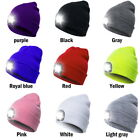 Unisex Women Men  LED  Hat USB Knitted Battery Powered Outdoor Light Cap