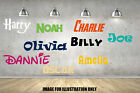 Personalised Name Pick Your Colour & Font Childrens Wall Stickers Decal Transfer