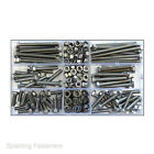 144 Assorted A2 Stainless Steel M6/6mm Hex Head Bolts Full & Nyloc Nuts,Washers