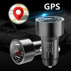 Car Dual USB Charger GPS Tracker Locator Tracking Quick Chargering Travel Acces