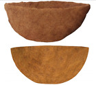Gardman Coco Liner Wall & Round Flower Basket Moulded Natural Co-Co Fibre Liner