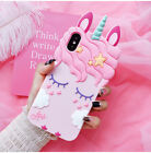 Pink Cute Unicorn Series Soft TPU Protective Gel Case Covers For iPhone