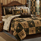 Queen Patchwork Plaid & Camo Browning Country Comforter Set - Add Sheets & More