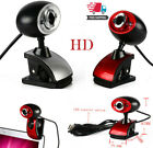 2 LED USB 2.0 HD Webcam Camera With External Microphone Mic For PC Laptop