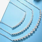 0.5Ct 1Ct 2Ct 100 Natural Diamond 14K Gold Smile Necklace NP1-1