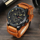 Curren Watch Army Quartz Wristwatches Leather Man's Casual Sports Watches image