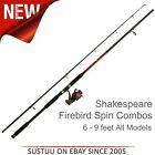 Shakespeare Firebird 2-Piece Spin Rod & Reel Combo│Black/Red│All Model Available