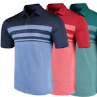 Arnold Palmer Golf Men's Marsh Landing Stripe Polo Shirt,  Brand New