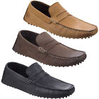 Base London Morgan Driving Shoes Mens Formal Casual Classic Leather Loafers