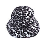 Leopard Bucket Hat Women Fisherman Cotton Layer Fabric Sunscreen Flat Caps B