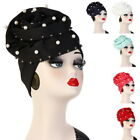 Women Turban Pearl Muslim Cap Hair Loss Head Scarf Cancer Chemo Hat Hijab 32