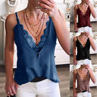 Women Summer Lace V-neck Strap Vest Tank Tops Casual Camisole Tee Blouse