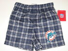 Miami Dolphins Team Color Plaid Flannel Boxer Shorts - Child & Youth Sizes on eBay