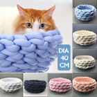 Washable Knitting Pet Cat Dog Bed Sleeping Nest Puppy Cushion Mat Kennel House