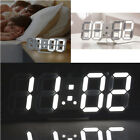 Modern Big Digital 3D LED Wall Clock Alarm Snooze 12/24H Temperature Display USB