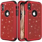 Luxury Bling Glitter Drop Shockproof Case Covers For iPhone Xs Max XR X 7 8 Plus