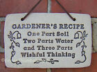 Ceramic Plague Stoneware Funny Quote Garden Plant Container Sign Hanger Saying