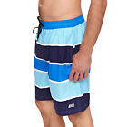 Zoggs Mens Wategos 19inch Swimming Swim Striped Mesh Lined Shorts - Blue
