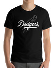 Los Angeles Dodgers black T-Shirt Graphic Cotton  Adult white Logo Jersey LA LAD on Ebay