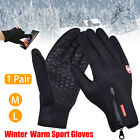 Men Women Winter Wamer Touch Outdoor Sport Driving Gloves Screen Windproof