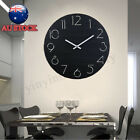 12'' Simple Modern Design Sweep Round Wall Mountable Clock  Kitchen Home Decor