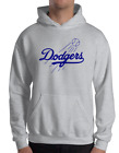 Los Angeles Dodgers gray hoodie SWEATSHIRT Graphic Cotton Adult Logo LA LAD on Ebay