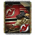 """Devils OFFICIAL National Hockey League, """"Vintage"""" 48""""x 60"""" Woven Tapestry Throw $36.71 USD on eBay"""