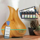 400ml 7LED Aroma Essential Oil Diffuser Ultrasonic Air Humidifier with remote