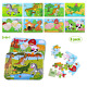 BBLIKE Jigsaw Puzzle, Jigsaw Puzzles for kids 112 pcs Wooden Puzzle Toy in 2 Tin