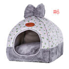 US Folding Small Pet Cat Dog Warm Bed Tent Triangle Foldable Kennel Cave House