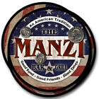 Manzi Family Name Drink Coasters - 4pcs - Wine Beer Coffee & Bar Designs
