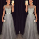 Women Formal Wedding Bridesmaid Evening Party Ball Prom Gown Long Cocktail-Dress